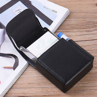New Black Pocket PU Leather Cigarette Holder Storage Case Box Container