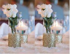 10 Pack Glitter Dipped Vases, gold vase, wedding centerpieces, home decor vase