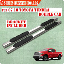 """For 07-19 TOYOTA Tundra Double Cab 5"""" Running Board Nerf Bar Side Steps SS A"""