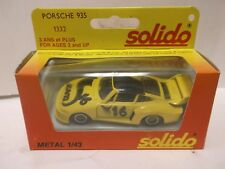 Solido No.1332 Porsche 935 In Yellow 1:43 Scale