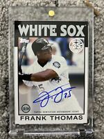 2021 TOPPS SERIES 1 FRANK THOMAS AUTO 1986 35TH ANNIVERSARY SSP WHITE SOX oncard