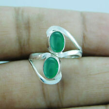 Silver Adjustable Toe Ring Sz-8 btr-328 Amazing Designer Green Onyx 925 Sterling