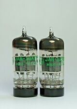 GE USA JAN-12AY7 Pair Valves Tubes Grey Plate Halo Getter (V49)