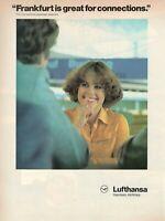 1979 Original Advertising' Lufthansa German Airlines Frankfurt