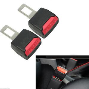 2× Car Auto Safety Seat Belt Buckle Extension Extender Clip Alarm Stopper Black