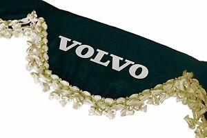 BLACK Window Shield Windscreen Truck Lorry Waveform Curtains Pelmet for VOLVO