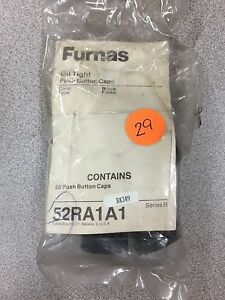 NEW PACK OF 20 FURNAS PUSH BUTTON CAPS 52RA1A1 SERIES B