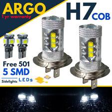 H7 Led White Headlight Xenon Super Halogen Fog Bulbs Hid Cob 12v 501 Side light