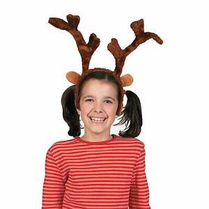Soft Plush Brown Christmas Reindeer Antlers Headband Costume Accessory Prop
