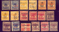 SAMOA  A NICE  COLLECTION of OLD STAMPS - with SUR-CHARGES   NO  RESERVE !!!!