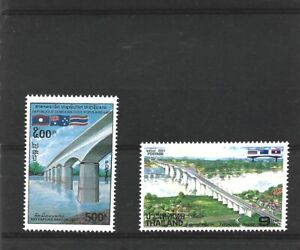 Thailand / Laos 1994 Friendship Bridge Singles from each Country MNH