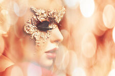 STUNNING MASQUERADE BALL PARTY MASK CANVAS PICTURE #43 WALL HANGING ART A1