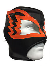 WHITE HAWK (pro-fit) Lucha Libre Wrestling Luchador Costume Mask - Blk/Orange