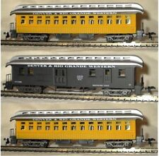 Ho Scale Model Power 3 Old Time D&Rg Passenger Cars W/ Metal Wheels & Interiors