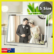 3.5x5 4x6 5x7 6x8 A4 Art Crystal Glass Document Certificate Photo Picture Frame