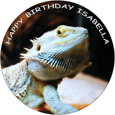 BEARDED DRAGON 7.5 PREMIUM Edible ICING Cake Topper CAN PERSONALISED D1