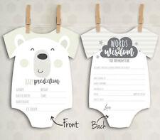 x10 Baby Shower Prediction Words of Wisdom Game Cards Mum Boy Girl Unisex C1