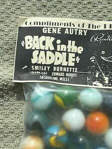 Gene Autry Bag of Great Looking Marbles