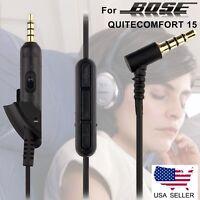 Replacement Audio Aux Cable Bose QuietComfort QC15 2 mic talk control Headphone