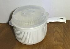 Nordic Ware Multi Pot 6 Cup Microwave/Conventional Oven Cookware Handle Good