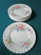 "Royal Doulton 8 Luncheon Plates 8 1/4"" Arcadia Pattern"