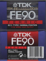 TDK 1x FE 90 Cassette K7 Tape Vierge Blank Type I neuf