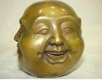 LUCKY-tibetan-brass-four-face-seal-buddha-head-statue