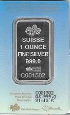 Pamp Suisse 1-oz Silver Holy Cross Bar BU struck in 999.0 Silver Bar #C001502