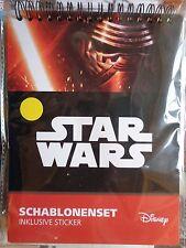 Disney Star Wars  * Schablonen-Set + Sticker * Mal-Block * Neu