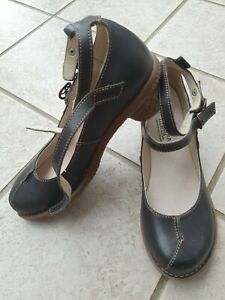 El NATURALISTA Pumps Komfort Leder Schuhe Gr.40-41 Lagenlook Neu Zustand