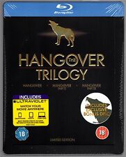 THE HANGOVER TRILOGY BLU-RAY STEELBOOK NEU & OVP 1 & 3 DEUTSCHER TON TRILOGIE