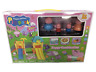 Peppa Pig figurines with slide play ground great cake topper