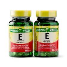 Spring Valley 2 Pack Heart/Immune Health 400 IU Pills Vitamin E (200) Softgels