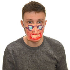 Half Face Freaky Glasses Fancy Dress Latex Mask For Kids & Adults Halloween