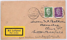 BM10 Allemagne 1929 Cover Sutton-Coldfield GB {samwells couvre -} pts