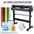 "34"" Vinyl Cutter Sign Plotter Cutting Paper Cut Printer w/ 3 Blades+ Supplies"