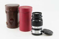 Leica Elmar 4 9 cm M39 mount Leitz black chrome RARE with BOX   85088