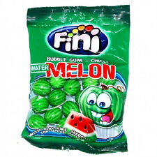 FINI Watermelon Shaped Bubble Gum with Fizzy Seeds 90g 3.2oz