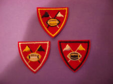 FOOTBALL w/CROSSED FLAGS EMBROIDERY APPLIQUE PATCH EMBLEM LOT (10 DOZEN)
