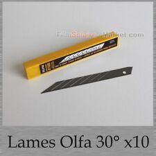Boite de 10 lames de rechange cutter OLFA 9mm    -  30°