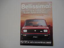 advertising Pubblicità 1981 FIAT 127 SPORT