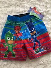 New PJ Masks Boys Toddler Swim Shorts Trunks Bathing Suit Size 2T