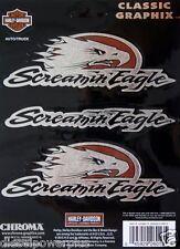 harley davidson motorcycle decal sticker screamin eagle 3 pack bar ride bike new