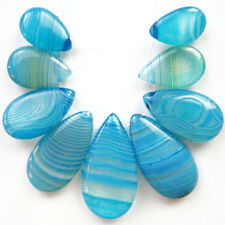9 Pcs/set Blue Onyx Agate Teardrop Pendant Bead (send randomly) R7304