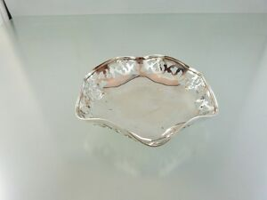 ART DECO PIERCED PIN DISH STERLING BY RODEN BROS MFG.
