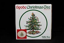 Spode China Holiday Christmas Tree Tidbit Tray Serving Plate