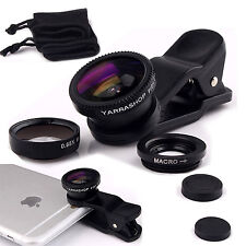 3 in 1 Professional HD Lens Cellulare Kit Fotocamera Fisheye 10X MACRO WIDE ANGLE
