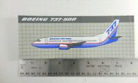 Boeing 737 - 500  Bumper Sticker Decal Unused Old Stock 8 Inch P3