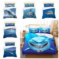 3D Shark Sea Animal Bedding Set Duvet Cover Comforter Cover Pillow Shams 3PCS
