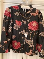 CITRON JACKET EMBROIDERED FLORAL LIGHTWEIGHT COAT SZ 2X BRAND NEW